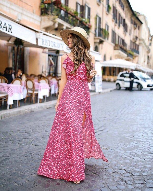 pink, dress, lady, fashion model, gown,