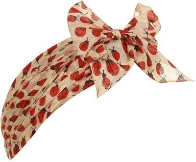 Cream Ladybug Print Headband