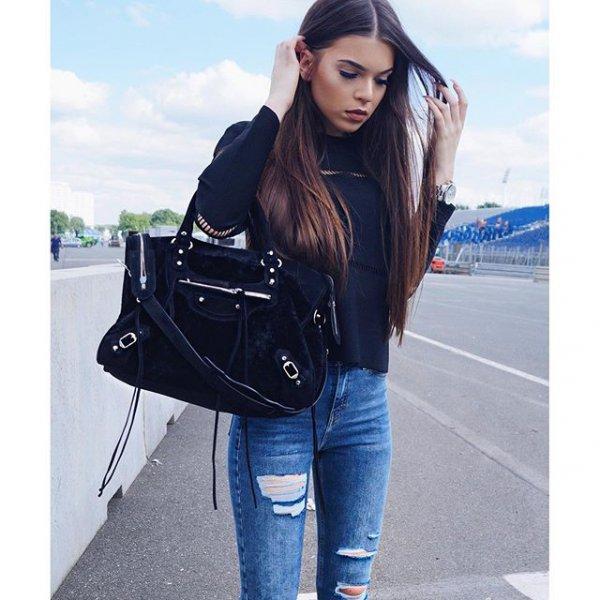 clothing, denim, leather, sleeve, footwear,