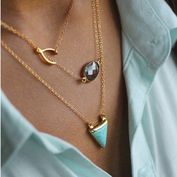 Necklace with Labradorite by Koshikira