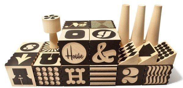 Wood Alphabet Factory Blocks