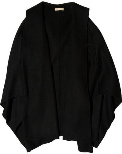 Michael Kors Hooded Wool Poncho