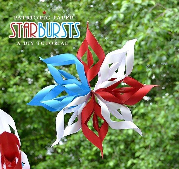 Hanging Paper Starbursts