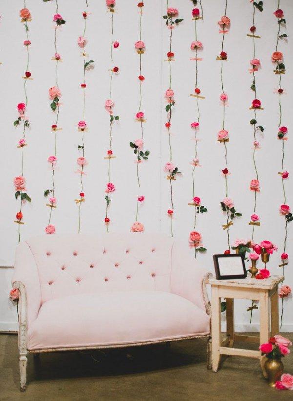 DIY Fresh Flower Wall for a Stunning Backdrop
