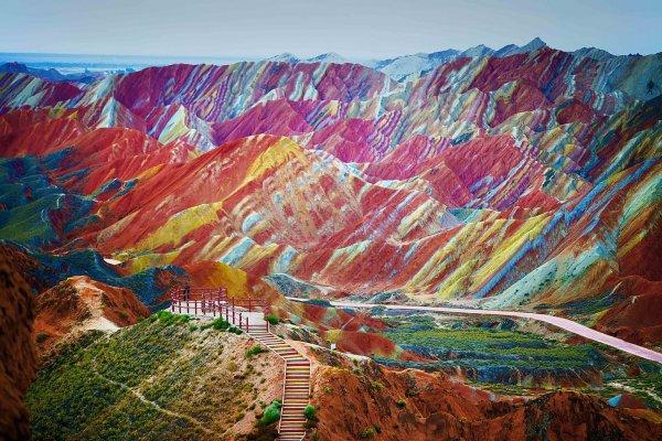 Zhangye Danxia Mountains, China