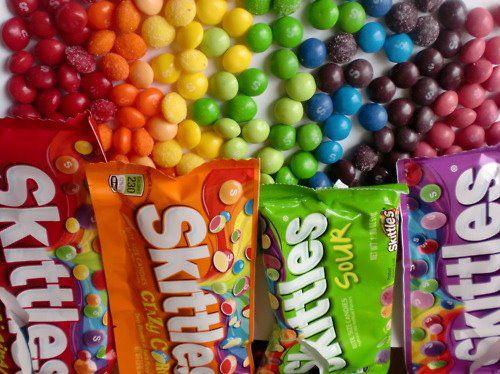 Skittles Meringues