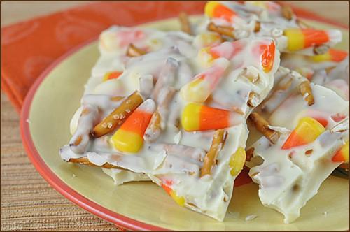 Candy Corn & Pretzel Bark