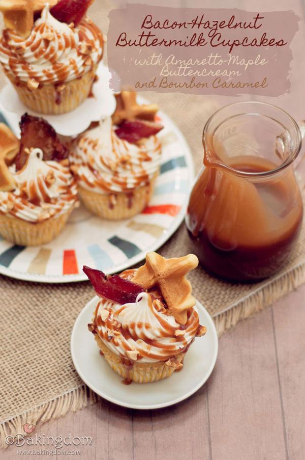 Bacon-Hazelnut Buttermilk Cupcakes