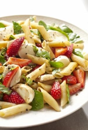 Chilled Strawberry Pasta Salad...