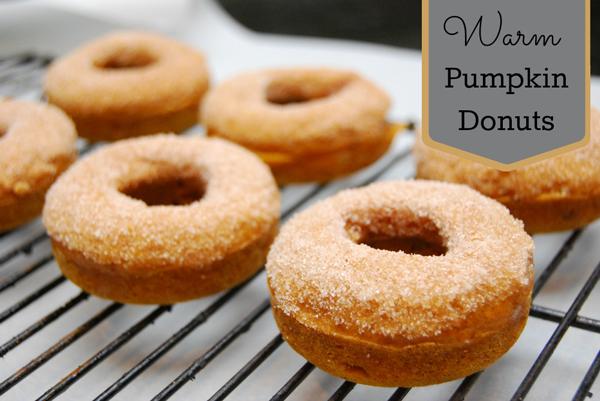Baked Warm Pumpkin Donuts