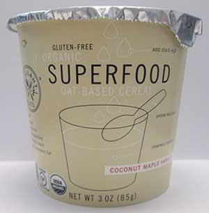 Vigilant Eats Coconut Maple Vanilla Superfood Oat Cereal