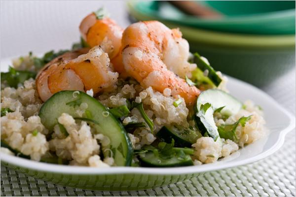 Quinoa and Ginger Lime Shrimp