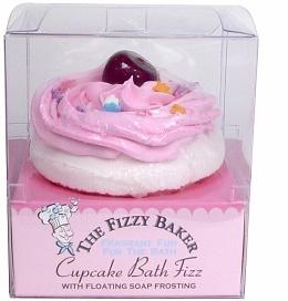 Smith & Vandiver the Fizzy Baker Cupcake Bath Fizz in Cherry Cheesecake