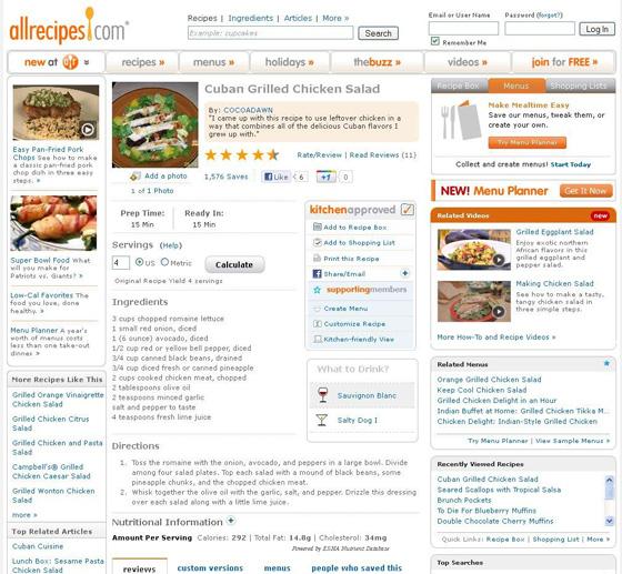Cuban Grilled Chicken Salad at allrecipes.com