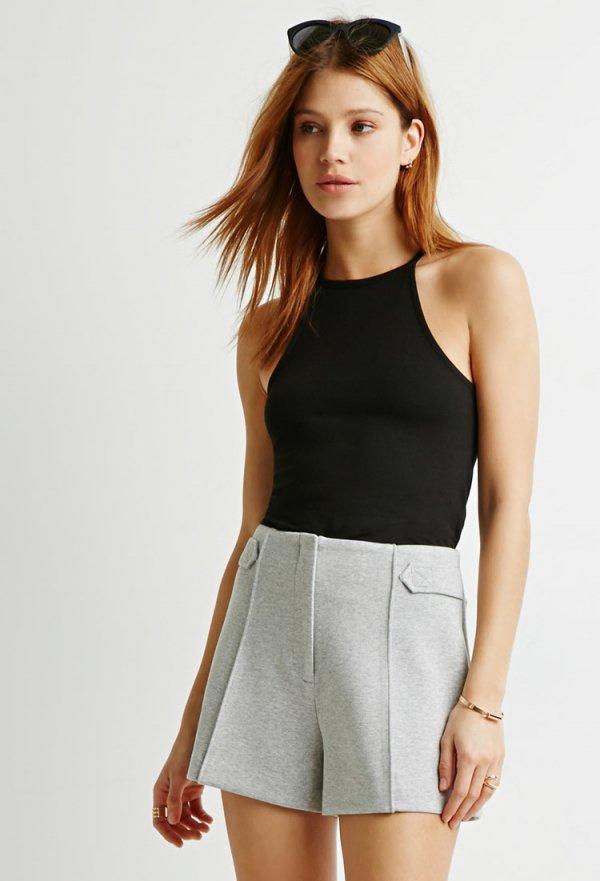 Heathered Scuba Knit Shorts