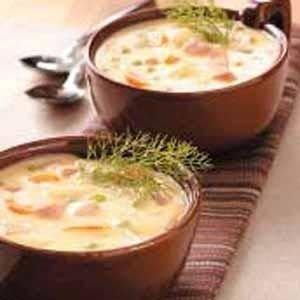 Cheddar Ham and Potato Soup