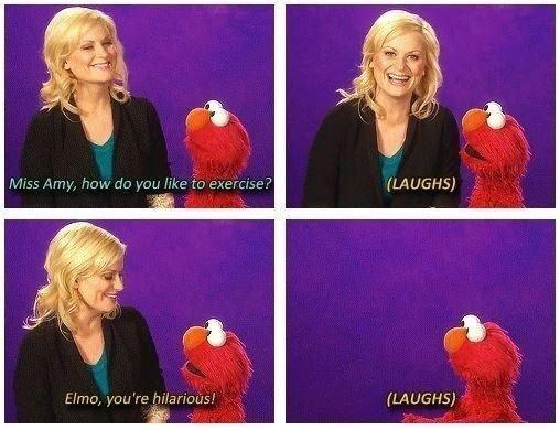 Exercise with Elmo