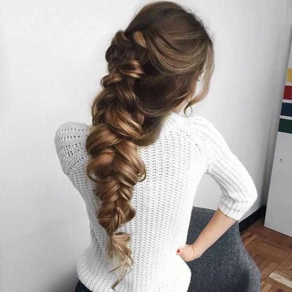 hair, hairstyle, long hair, braid, french braid,