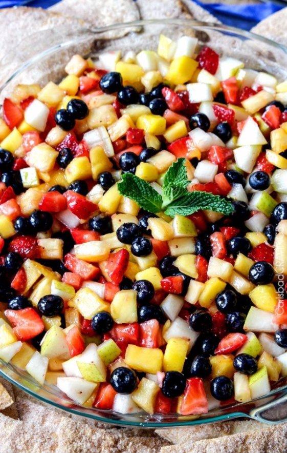 Light and Refreshing Rainbow Fruit Salsa