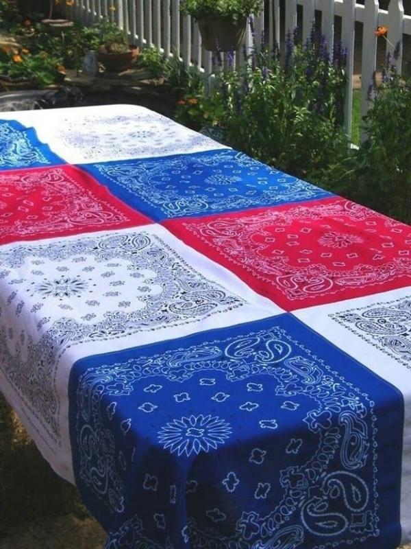 blue, tablecloth, bed sheet, textile, quilt,