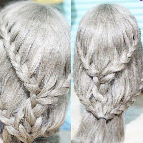 hair,hairstyle,hair coloring,french braid,long hair,