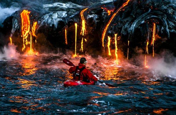 lava, geological phenomenon, campfire, screenshot, extreme sport,