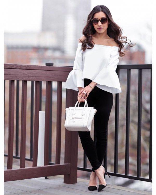 clothing, white, sleeve, leather, blouse,