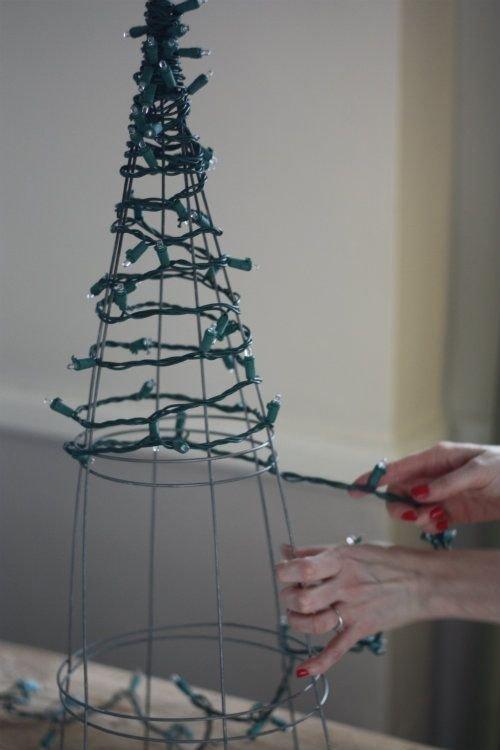 blue,tower,christmas tree,lighting,mast,