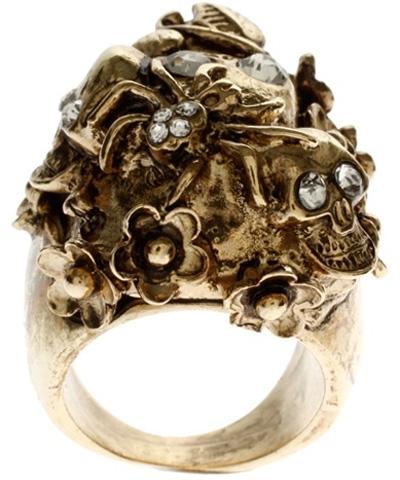 Asos Statement Encrusted Skulls and Crosses Ring