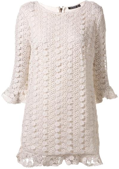 Topshop All over Crochet Shift Dress