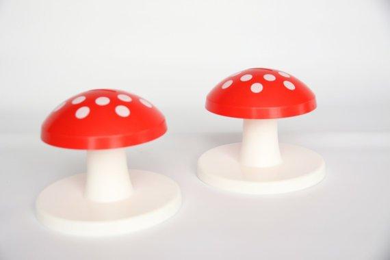 Vintage Mushroom Saving Banks