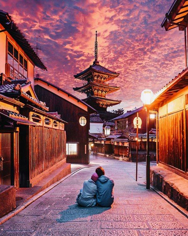 landmark, sky, town, evening, morning,