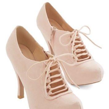 ModCloth Darling Can't Stop Blushing Heel