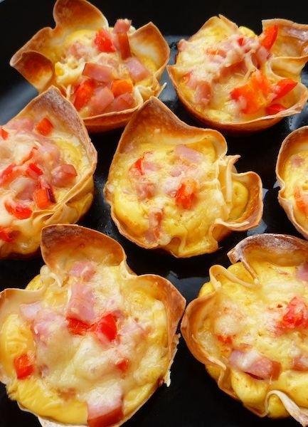 Cheesy Breakfast Toast Cups