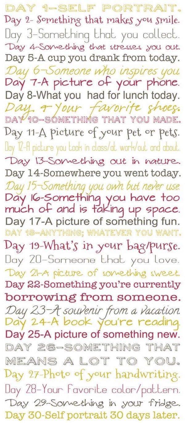 30 Days, 30 Photos