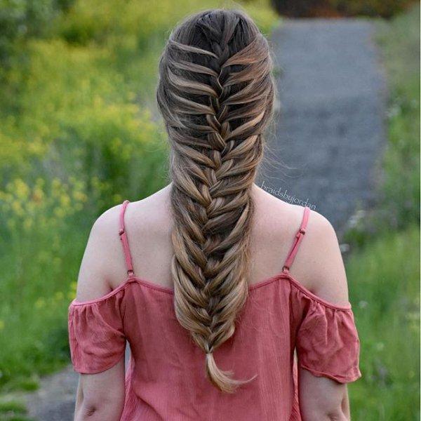 hair, hairstyle, long hair, head, french braid,