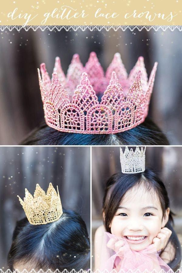 Glitter Lace Crown