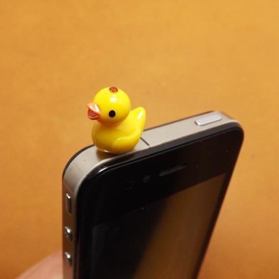 Cute Little Yellow Duck Duckling anti Dust Plug