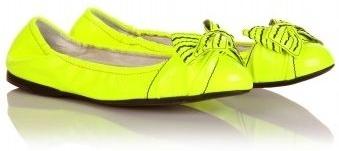 Miu Miu Fluorescent Patent Ballerina Flats