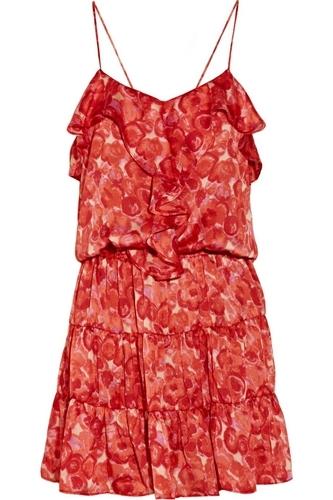 T-Bags Printed Satin Dress