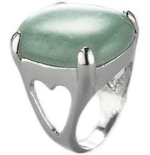 Quartz Stone and Heart Base Ring