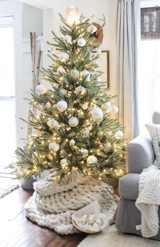 Christmas tree, Colorado spruce, Christmas decoration, White, Tree,