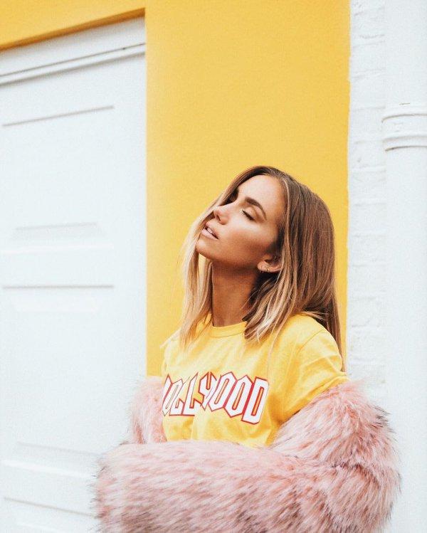 hair, yellow, hairstyle, long hair, photo shoot,