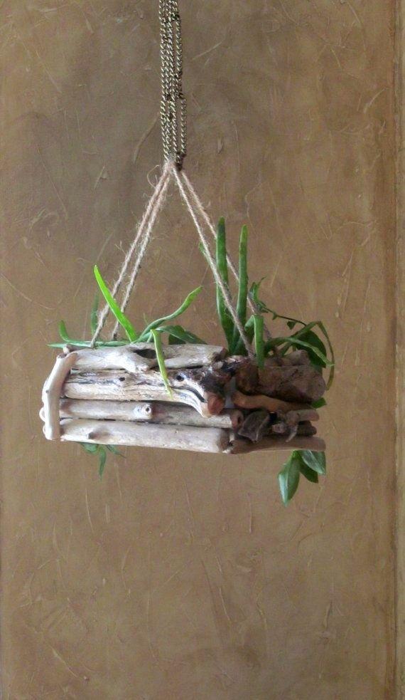 Driftwood Hanging Planter