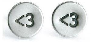 <3 Heart Stud Earrings