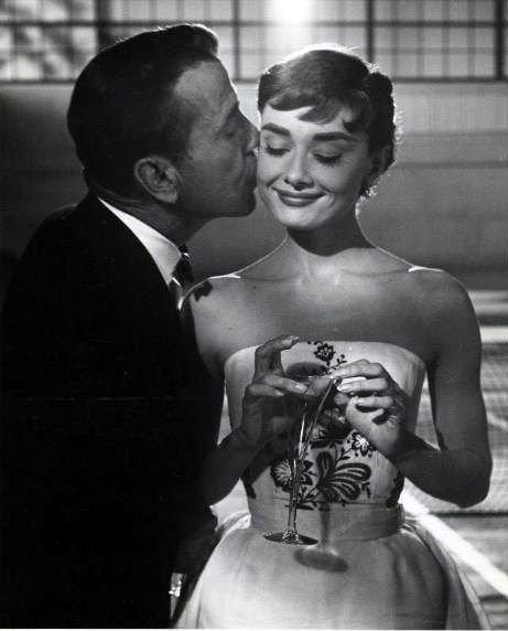 """Humphrey Bogart and Audrey Hepburn, """"Sabrina"""""""