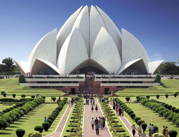 The Lotus Temple in Delhi