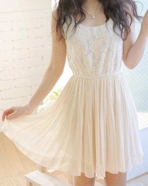 Lace White Sundress
