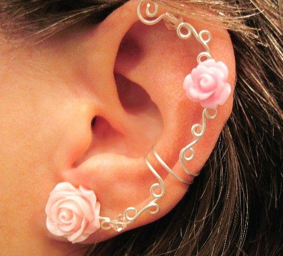 """""""Roses Are Romantic"""" Non Pierced Ear Cuff"""