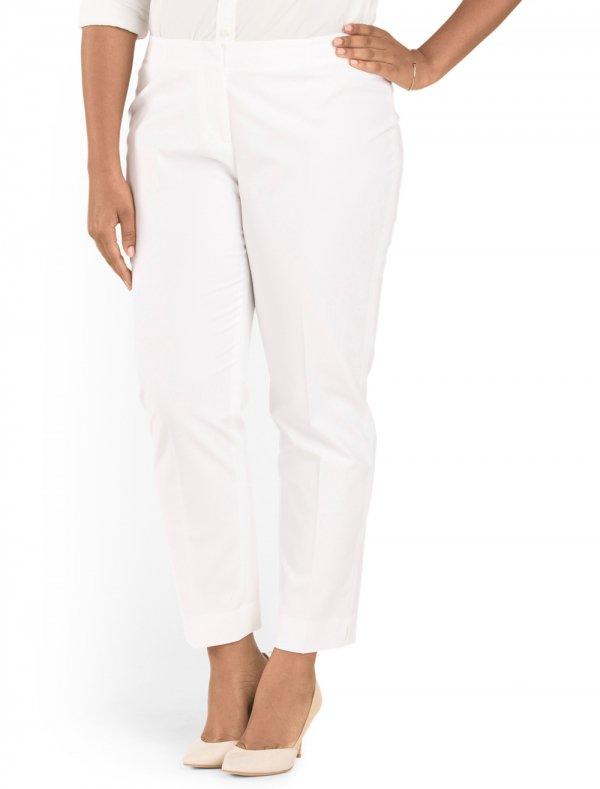 Plus White Pant